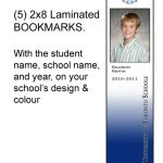 (5) Laminated Bookmarks