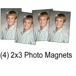 (4) 2 x 3 Photo Magnets